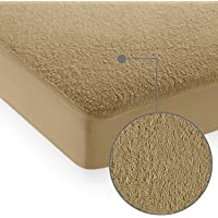 Cloth Fusion Terrycloth Mattress Protector (72 x 36 Inches_ Beige)
