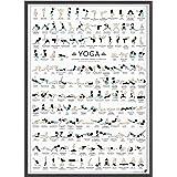 Follygraph Yoga Poster - Joga Afbeelding - 150 Asanas (A2)