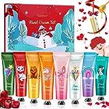 Crema Mani Regalo Natale, GLAMADOR 8+1pcs Crema Mani Kit 30ml & Balsamo per le Labbra, Crema per le Mani, Crema Mani Riparatr