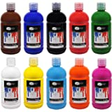 Artina Acrylverf Set Crylic 10 stuk - 500ml Flessen Schilderij Set Kleurrijke Verf Set met Levendige Kleuren