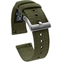 Barton - Cinturino di tela a sgancio rapido - scegli colore e lunghezza - larghezza 18 mm, 20 mm, 22 mm