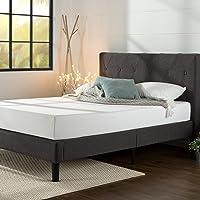 Cadre de lit plateforme capitonné 35 cm Shalini ZINUS | Sommier | Support à lattes en bois | Facile à monter | 180 x 200…