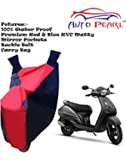 100% Water Proof PVC Bike Body Cover with Mirror Pockets, Buckle Belt, Carry Bag - TVS Jupiter