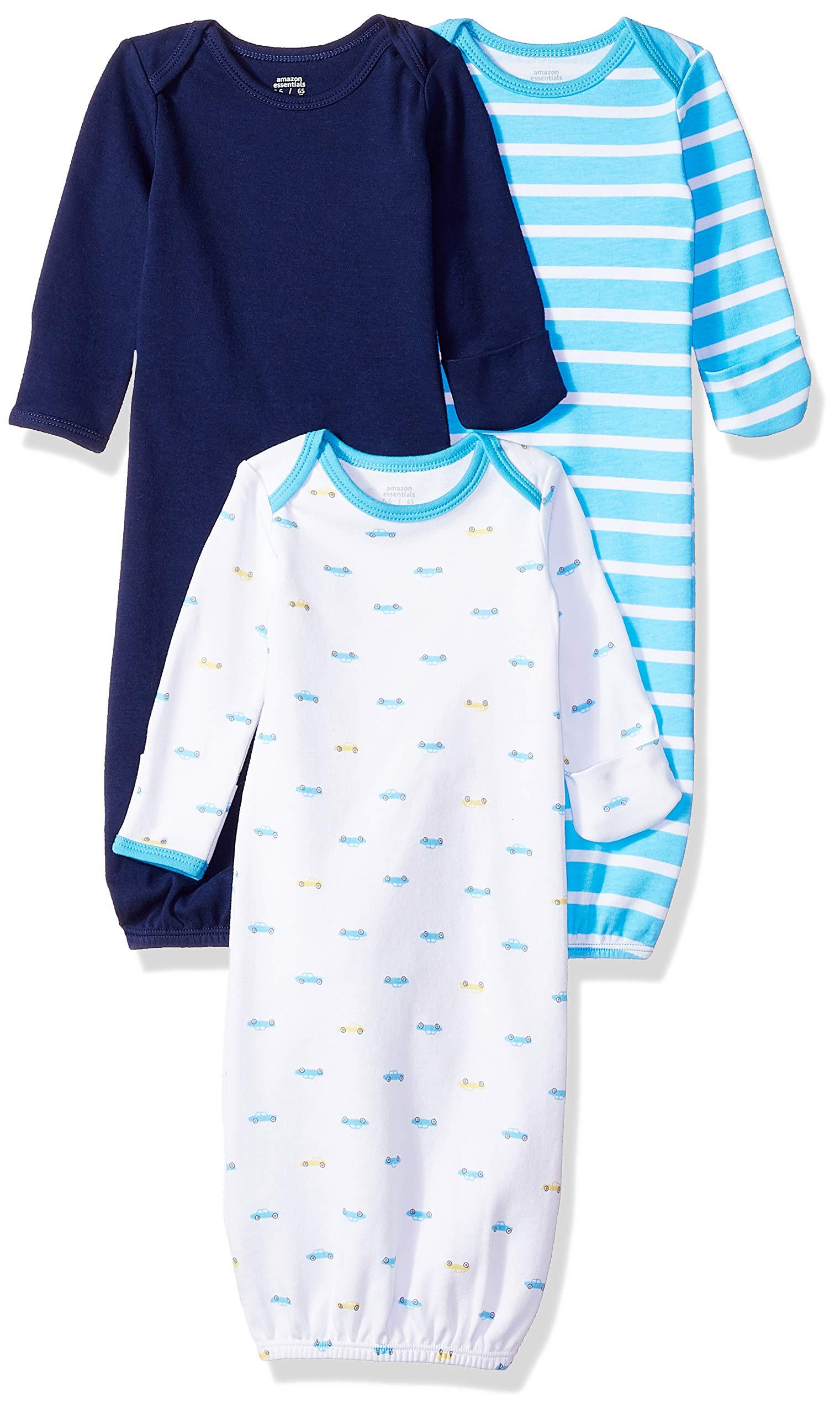 Amazon Essentials - Pack de 3 sacos de dormir de bebé para niño 1