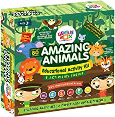Genius Box Learning Toys for Children : Amazing Animals Activity Kit