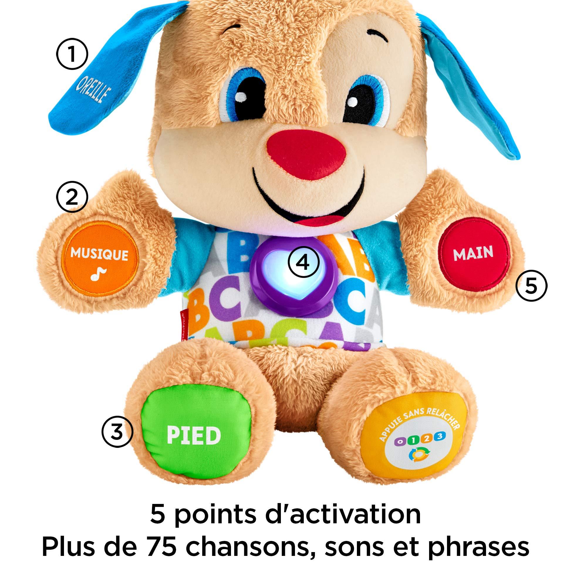 divers design disponible dernière remise Fisher-Price Puppy Eveil Progressif jouet bébé, peluche interactive