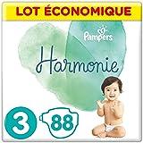 Pampers - Harmonie - Couches Taille 3 (6-10kg) - Lot économique de 88 couches (4x22 couches)