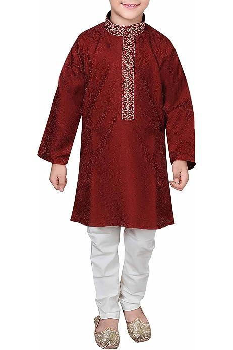 Desi Sarees Niños Sherwani Kurta Pijama Bollywood Theme Eid Costume 928: Amazon.es: Ropa y accesorios
