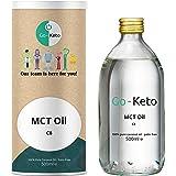 Go-Keto MCT Aceite C8, 500 ml | Aceite MCT prémium, 100% de aceite de coco sin aceite de palma | Perfecto para la dieta ceto