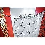 barre d'arc asymètrique alu 130x130 cm barre pour le rideau de douche lumineuses ovale extra longue