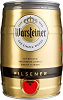 Warsteiner Premium Pilsener 5 Liter Fass – Partyfass mit Zapfhahn – Internationales Bier nach deutschem Reinheitsgebot –...