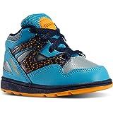 Reebok Cuero Azul Altos Zapatos Infantiles Versa Pump Omni Lit y La Tela M42165