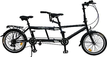 ecosmo 50,8cm New zusammenklappbar City Tandem Fahrrad 7SP–20tf01bl