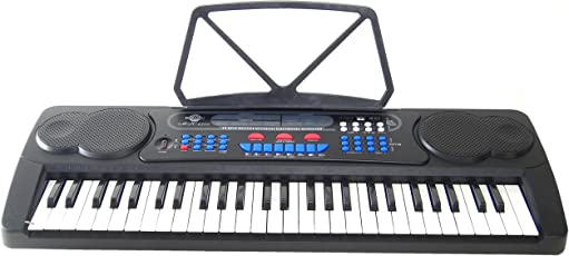 Keyboard DynaSun MK4500 54 Tasten USB Anschluss Intelligente Lernfunktion inkl. Netzteil Mikrofon und Notenständer