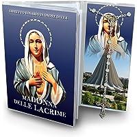 Ferrari & Arrighetti Libretto dedicato alla Madonna delle Lacrime (Siracusa) con Rosario Classico 5 Decine - Italiano