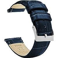 Barton - Cinturino in pelle per orologio, motivo coccodrillo, a sgancio rapido, colori e lunghezze assortiti, misure…