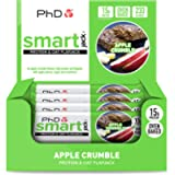 PhD Smart Jack, High Protein, low sugar baked Oat Flapjack-(Apple Crumble), Pack of 12