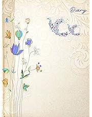 Crownlit Floral Design 2020 Diary, Hard Bond, Sunday Full, B5 Size