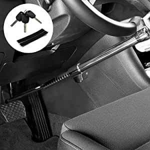KAIRAY Lenkrad Bremspedalschloss 5 codierter Pass Hochleistungsstahl Sicherheitsschloss Verstellbares Sicherheitsautoschloss f/ür SUV-Pickup Golfwagen Sattelzugmaschine