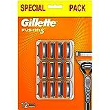 Gillette Fusion 5 Lamette di Ricambio per Rasoio Uomo per una Rasatura Scorrevole, Confezione da 12 Lamette