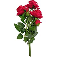 ENDECOR - Artificial Rose. Flowers Bunch | Flower vase for Home Decoration | Artificial Rose Flowers Stick for…