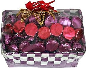 Skylofts Purple Chocolates Basket With 20Pc Assorted Chocolate - Multi Color