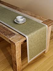S9home by Seasons 6 Seater Plain Lime Table Runner 72x12 inch