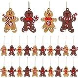 WILLBOND 24 Pezzi Ornamento Pan Zenzero Natale Omino Pan Zenzero Natalizio Omino Decorazione Ornamento Pan Zenzero Natale App