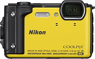 Nikon Coolpix W300 Waterproof Underwater Digital Camera with TFT LCD (Yellow)