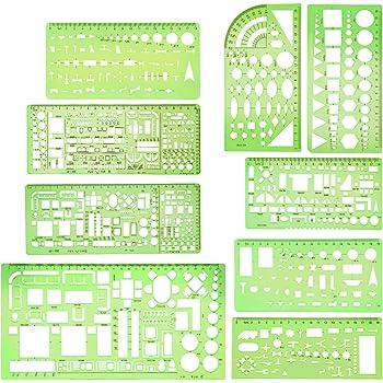Möbelschablone 1:100 orange Standardgraph 7342 transparenter Kunststoff