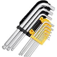Tech Traders® Sechskant / Inbusschlüssel-Set mit Kugelspitze, metrisch, Größen 1,5–10mm, 9Stück