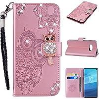 Galaxy S10 Lite Hülle, Leder Tasche Handyhülle Flip Wallet Schutzhülle für Samsung Galaxy S10 Lite mit Ständer und Kartenfächer/Magnetverschluss #R
