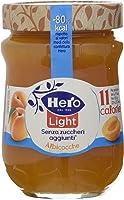 Hero Light Confettura Albicocca senza zuccheri aggiunti - 1 Confezione da 8 Vasi x 280 g