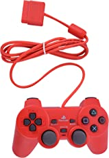 PS2 Wired Dualshock Remote Controller for PlayStation-2 (Red)