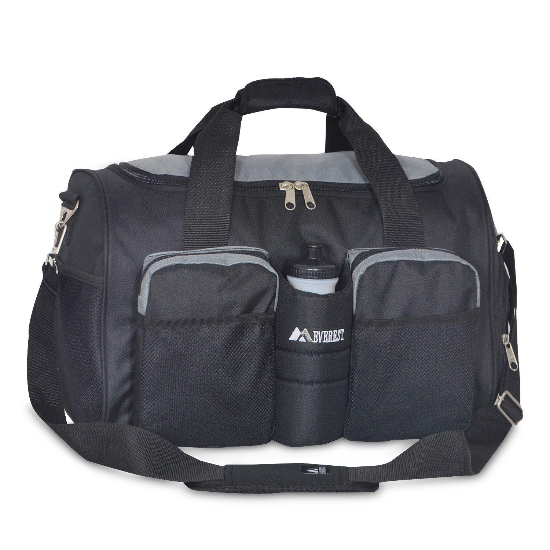 Everest Gym Bag With Wet Pocket Black One Size Amazoncouk Luggage