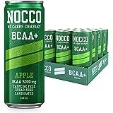 NOCCO BCAA Suikervrije dranken versterkt met aminozuren en vitaminen | pre workout koolzuurhoudende dranken 12 x 330ml (Apple