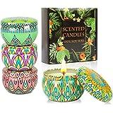 KAVAVO Coffret cadeau bougies parfumées,4 Paquet 2.5 Oz bougies parfumées, bougies,bougie en cire de soja soulagement du stre