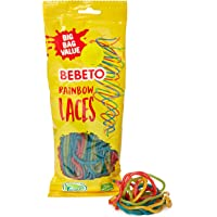 Bebeto Rainbow Laces Sweets - Delicious Vegan Sweets Made With Real Fruit Juice & Halal Certified