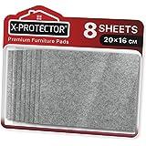 Fieltro adhesivo X-PROTECTOR - Deslizadores para muebles - 8 Premium fieltro autoadhesivo gris de 5 mm de grosor 20x16cm - Al