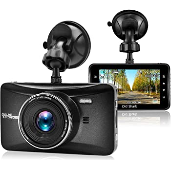 "Dash Cam, OldShark 1080P Full HD Car Camera 3.0"" Metal Shell Driving Video Recorder 170 Wide Angle Dashboard DVR Camcorder Built in Loop Recording Night Vision G-Sensor Parking Guard"