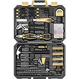 DEKO Set di utensili da 196 pezzi Kit di attrezzi per uso domestico generico con martello da carpentiere, pinza di Lineman, m