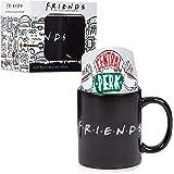 Friends Serie TV Tasse A Cafe Et Chaussettes Central Perk - Coffret Cadeau Pour Les Fans De La Série Avec Mug Magique Thermor