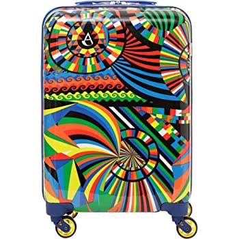 934027320d8c Aerolite Lightweight Polycarbonate Hard Shell 4 Wheel Travel Trolley Carry  On Hand Cabin Luggage Suitcase