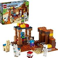 LEGO 21167 Minecraft Le comptoir d'échange, Jeu de Construction avec Les Figurines de Steve, Squelette et Lamas, Jouets…