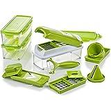 Genius Nicer Dicer Smart Julietti | 16 Teile | Gemüseschneider | Spiralschneider | Julienneschneider | Zwiebelschneider | Schneiden / Würfeln / Hobeln / Stifteln / Schälen / Aufbewahren / Juliennes | Mandoline | Multischneider | Gemüsehobel | Obstschneider | NEU