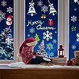 AmzKoi 160 Fensterbilder Selbstklebend, 6 Blätter Schneeflocken Fenstersticker Winter Deko Weihnachtsdeko, Fensterbilder Schn