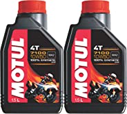 Motul 7100 4T 10w50 ( 1.5L + 1L = 2.5L ) API SN 100% Synthetic, Ester Technology  for Royal Enfield