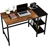 JOISCOPE Bureau d'ordinateur, Table d'ordinateur Portable, Table Industrielle en Bois et métal, Table d'étude avec étagères e