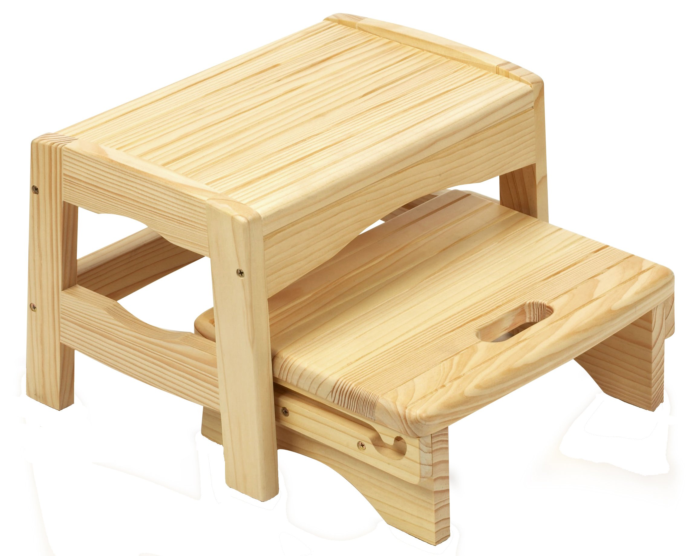 Safety 1st Solid Wooden 2 Step Stool with 2 Steps and Slip-Resistant Pads for Children and Toddlers, 18 m+  Solid wood stool suitable from 18 months to around 4 years or up to 22 kgs Lightweight design for easy portability Two levels help the child reach the sink 1