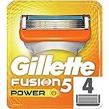 Gillette Fusion 5 Power Lamette di Ricambio Uomo, 4 Pezzi